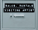 [Sales, Rentals and Visiting Artist]
